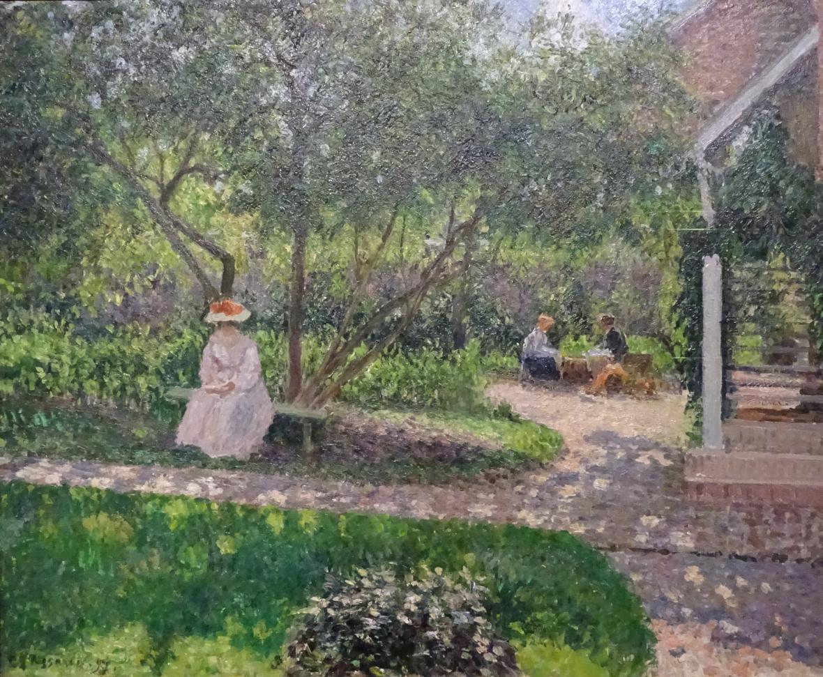 Camille Pissarro / Zahradní koutek v Éragny (Malířův domov), 1897
