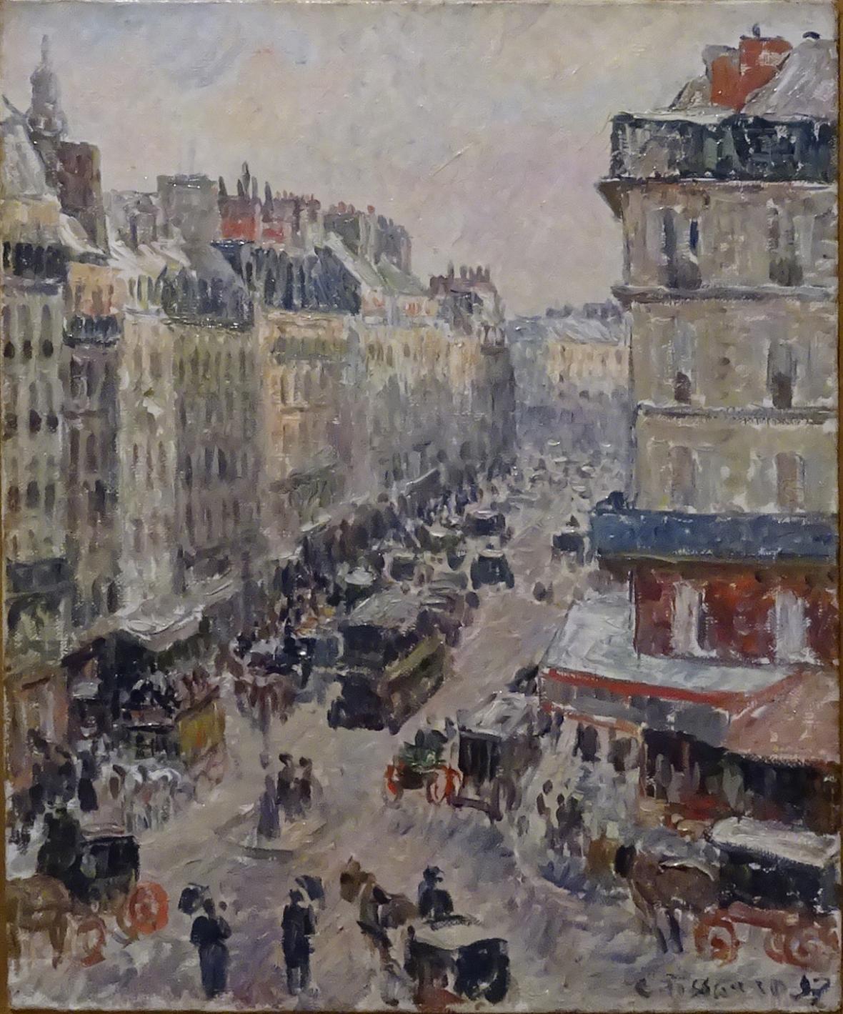 Camille Pissarro / Rue Saint-Lazare, Paris, 1897