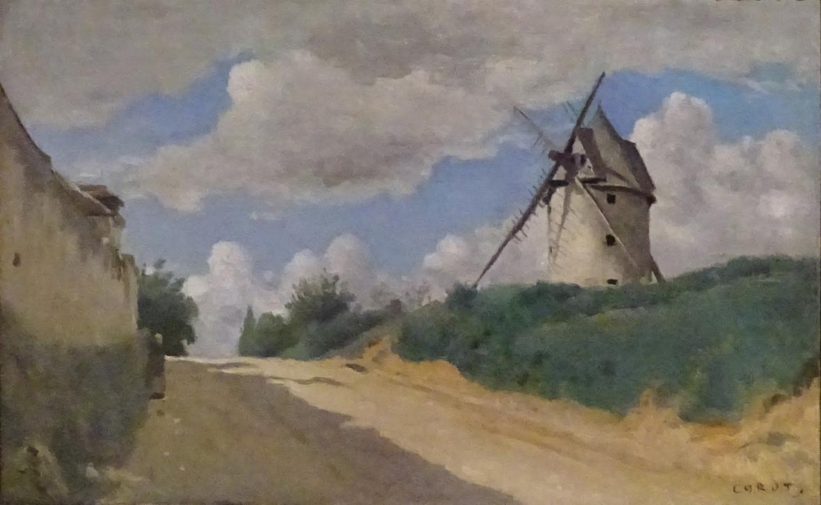 Jean-Baptiste Camille Corot / Větrný mlýn, 1835–1840