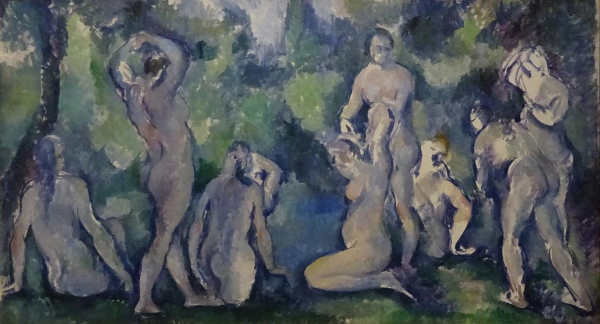 Paul Cézanne / Koupající se ženy, kolem 1895