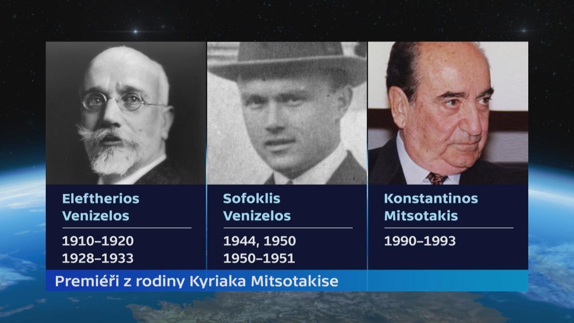 Premiéři z rodiny Kyriakose Mitsotakise