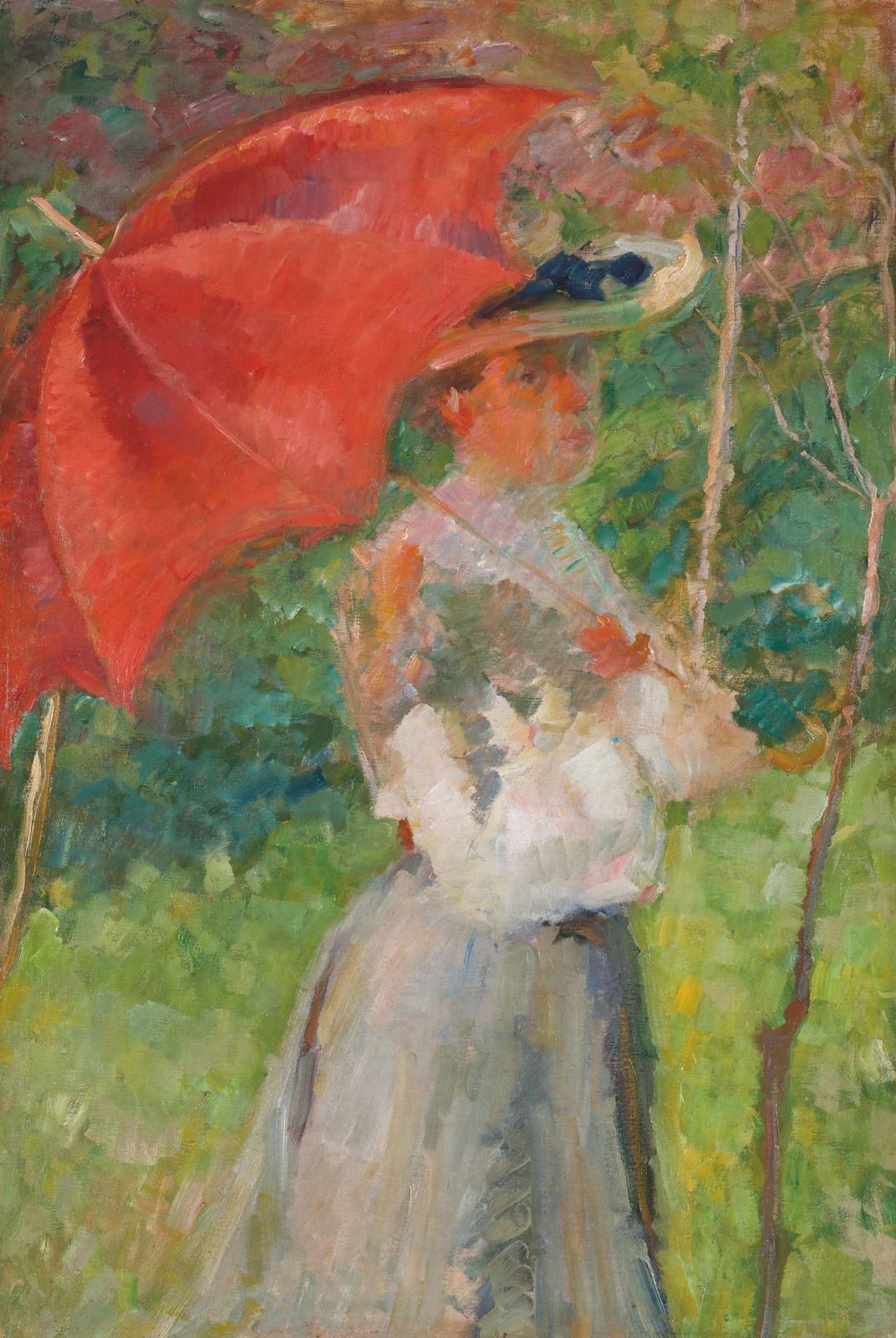 Matej Sternen / Červený slunečník, 1904