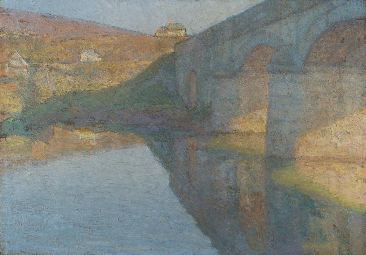 Matija Jama / Most přes Dobru u Puškarić Selo, 1907