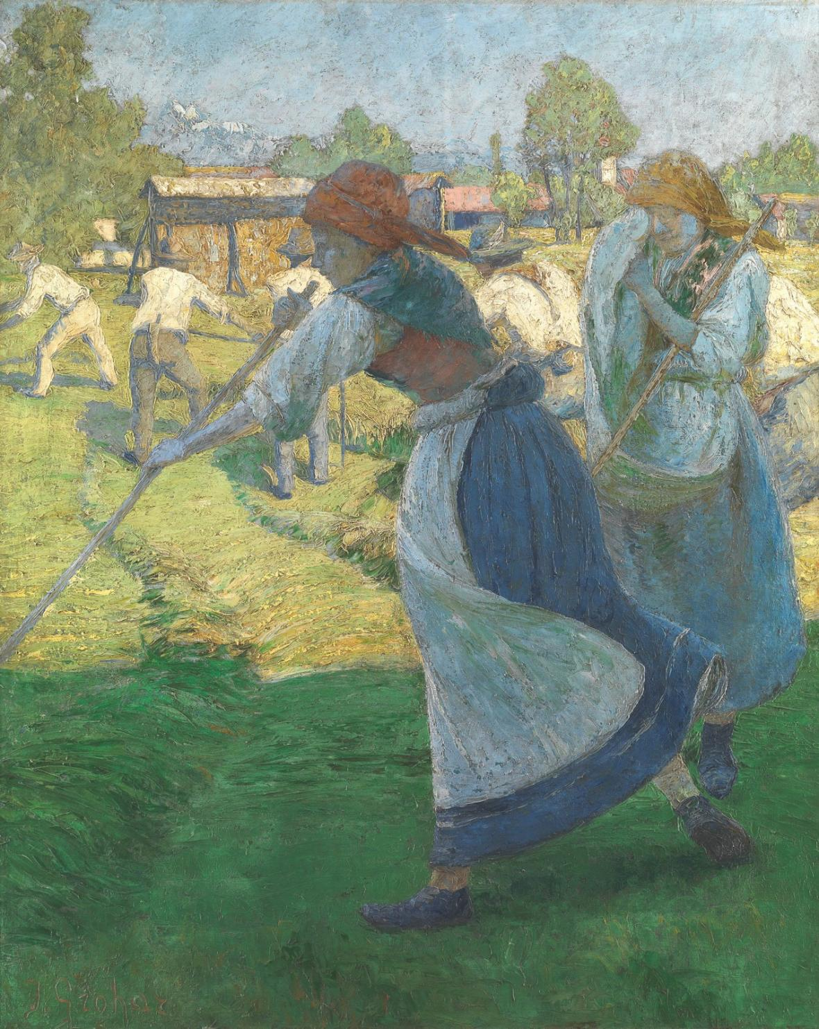 Ivan Grohar / Hrabání (Senoseč), 1902
