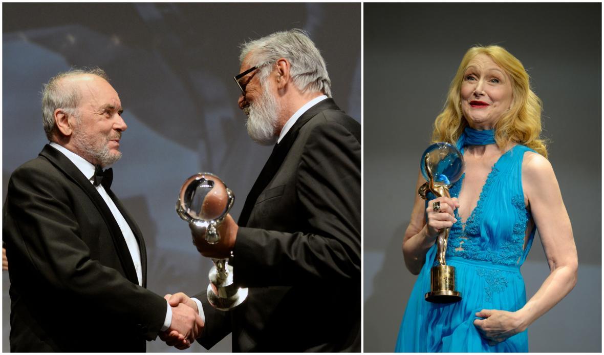 Čestná ocenění KVIFF ro Vladimíra Smutného a Patricii Clarksonovou