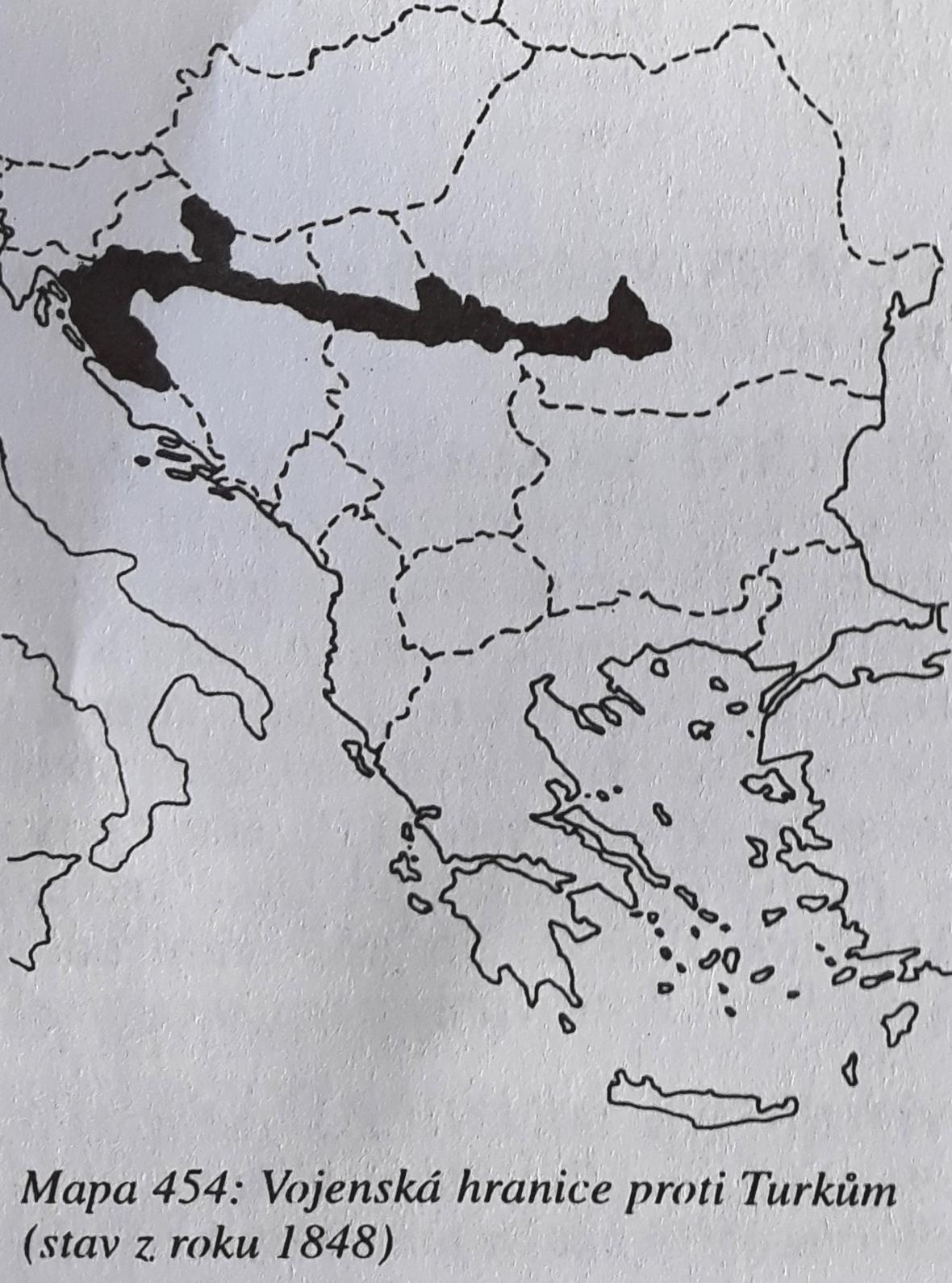 Vojenská hranice v roce 1848