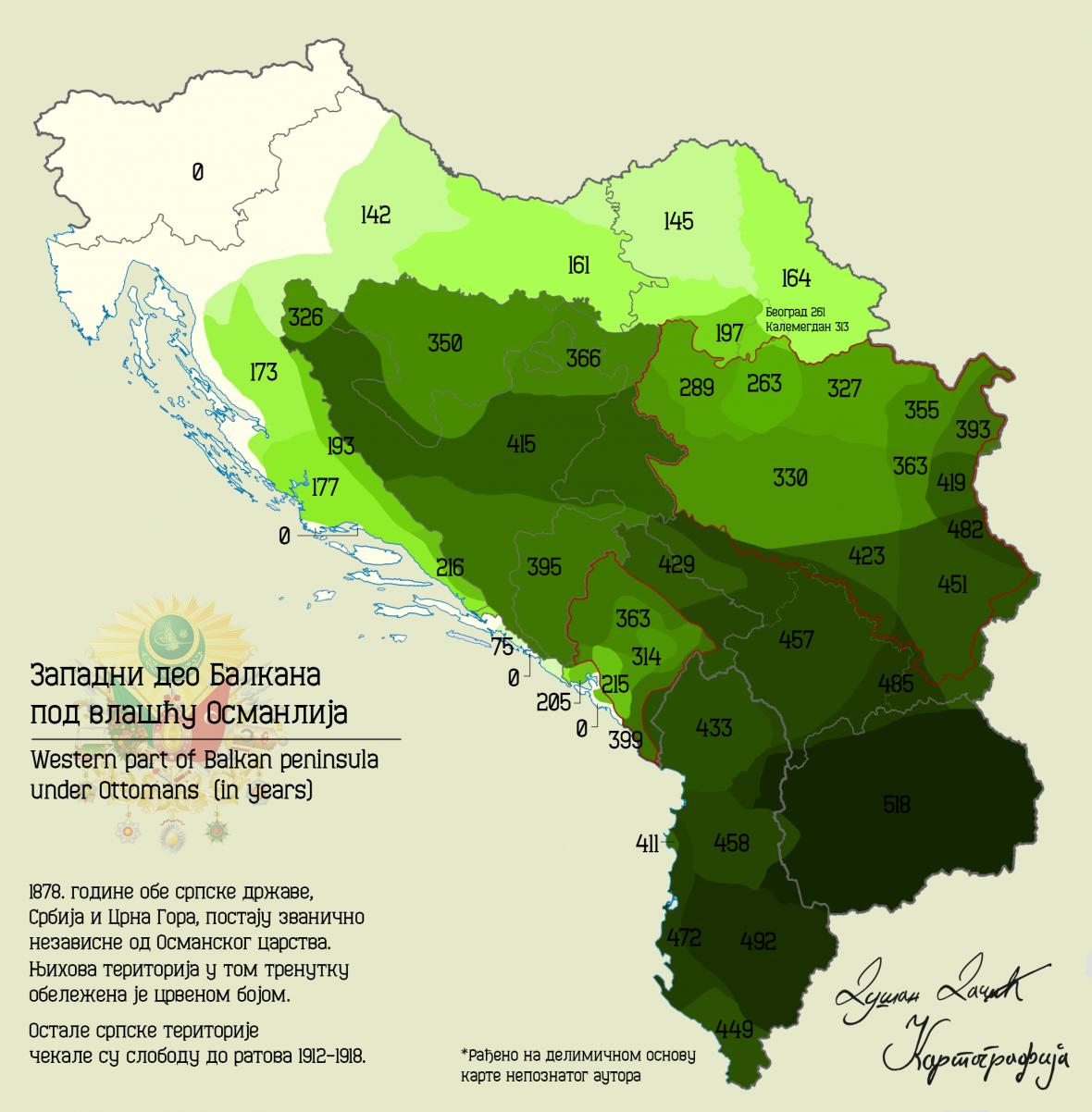 Doba osmanské vlády nad částmi západního Balkánu v letech