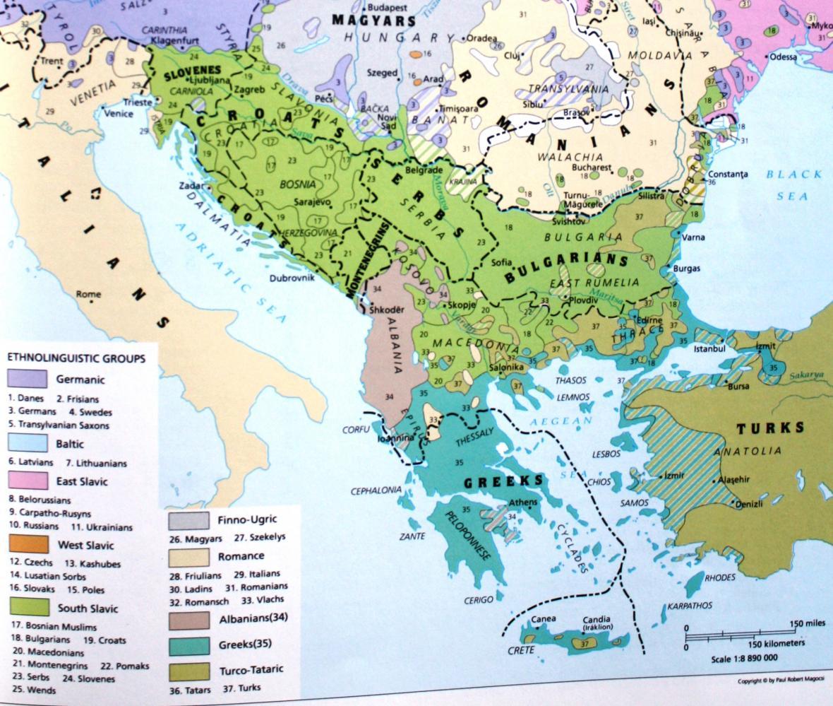 Balkan V Mapach Civilizacni Trojmezi Vybusna Oblast Kde Muze