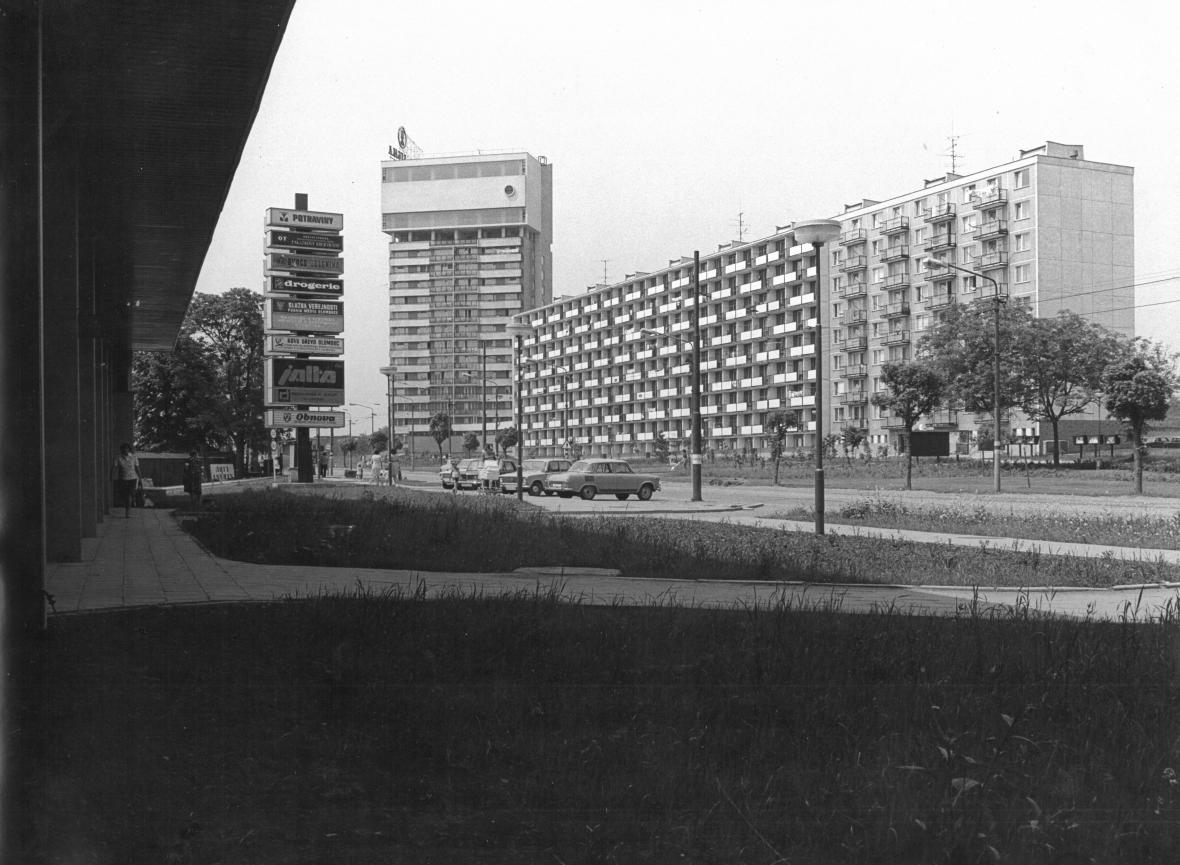 Obytný dům s vodojemem v Olomouci, 1968–1973