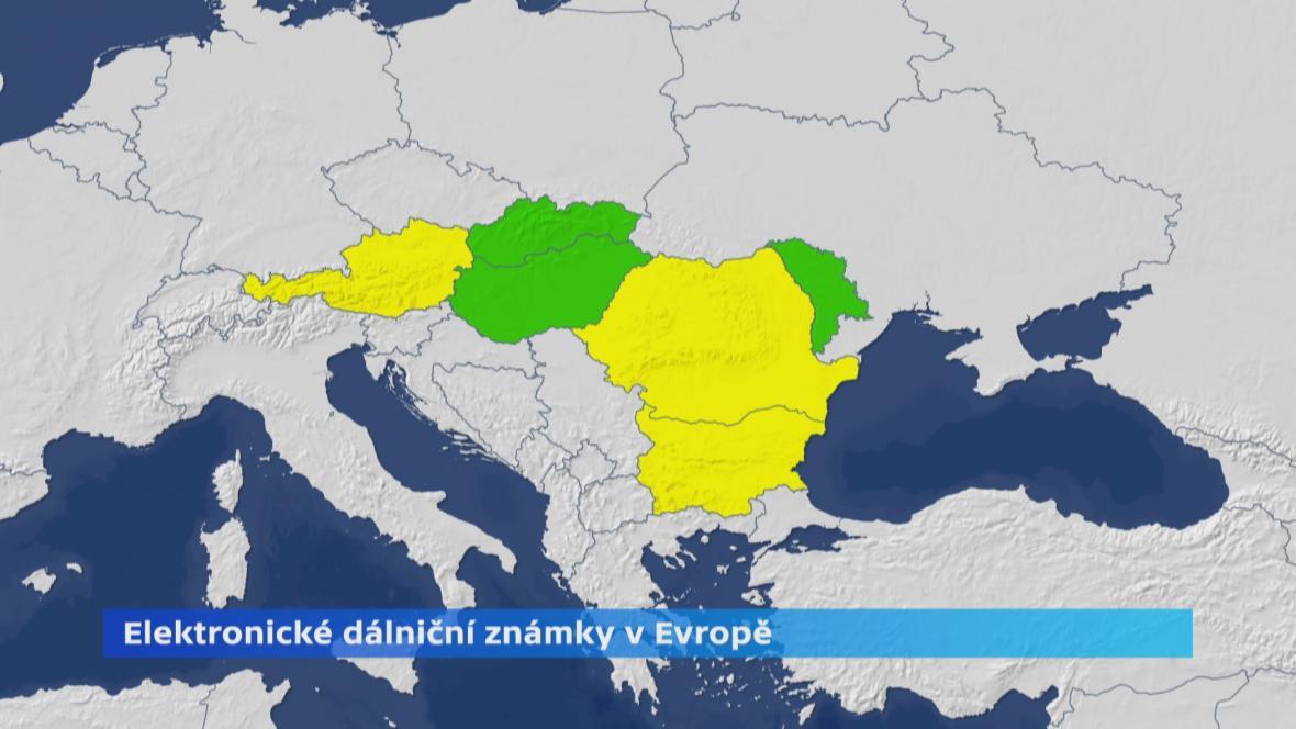 Elektronické dálniční známky v Evropě