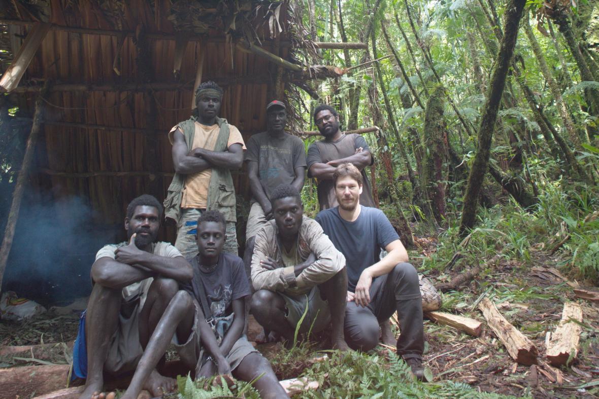 Milan Janda na ostrově Bougainville