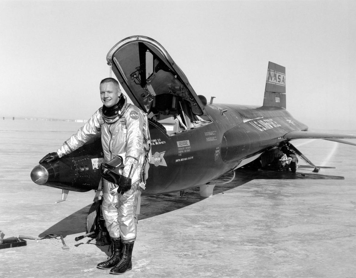 Neil Armstrong u letounu X-15