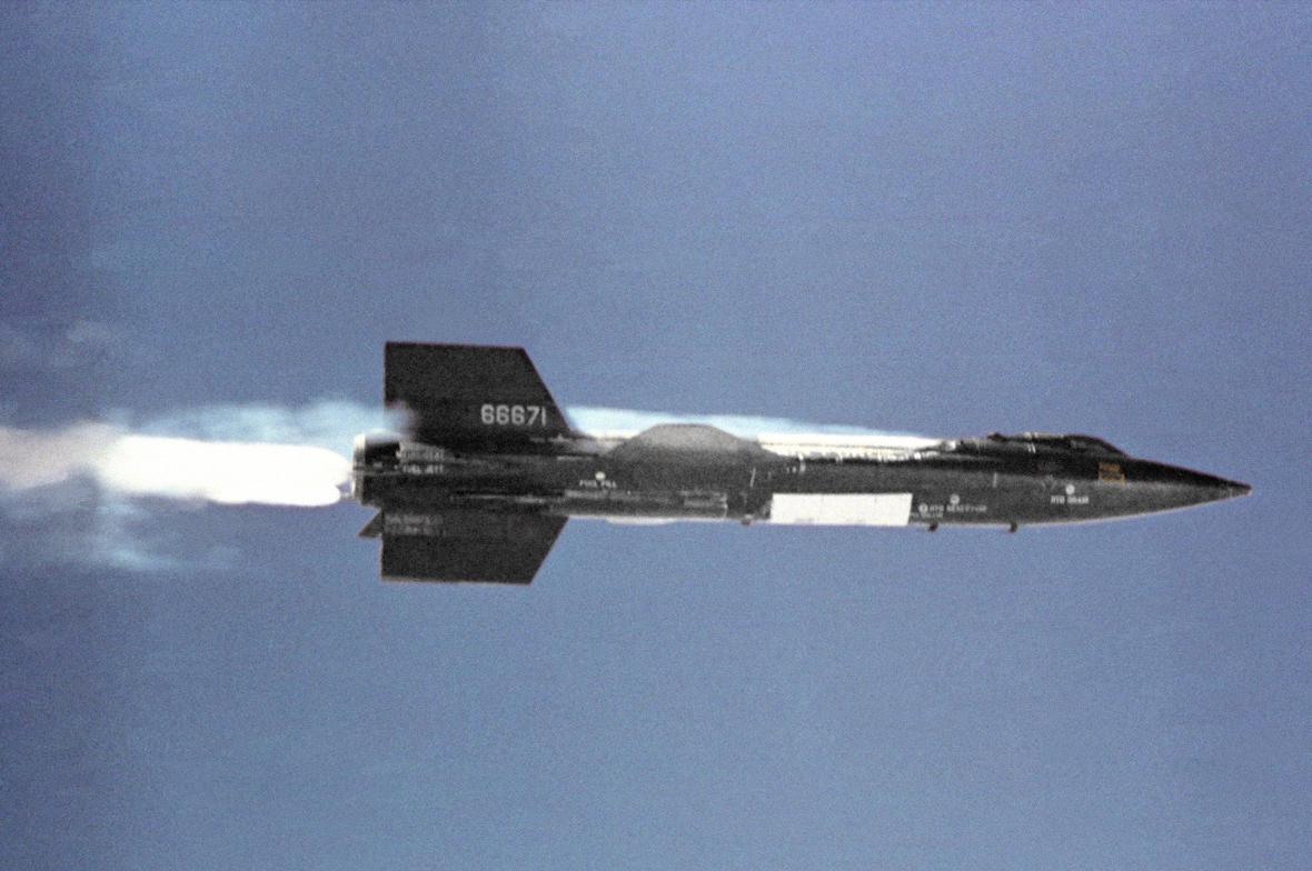X-15 v letu