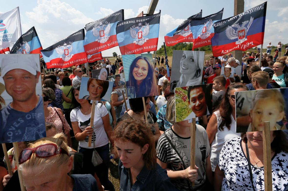 Ukrajinský pietní akt při příležitosti pěti let od tragédie MH17