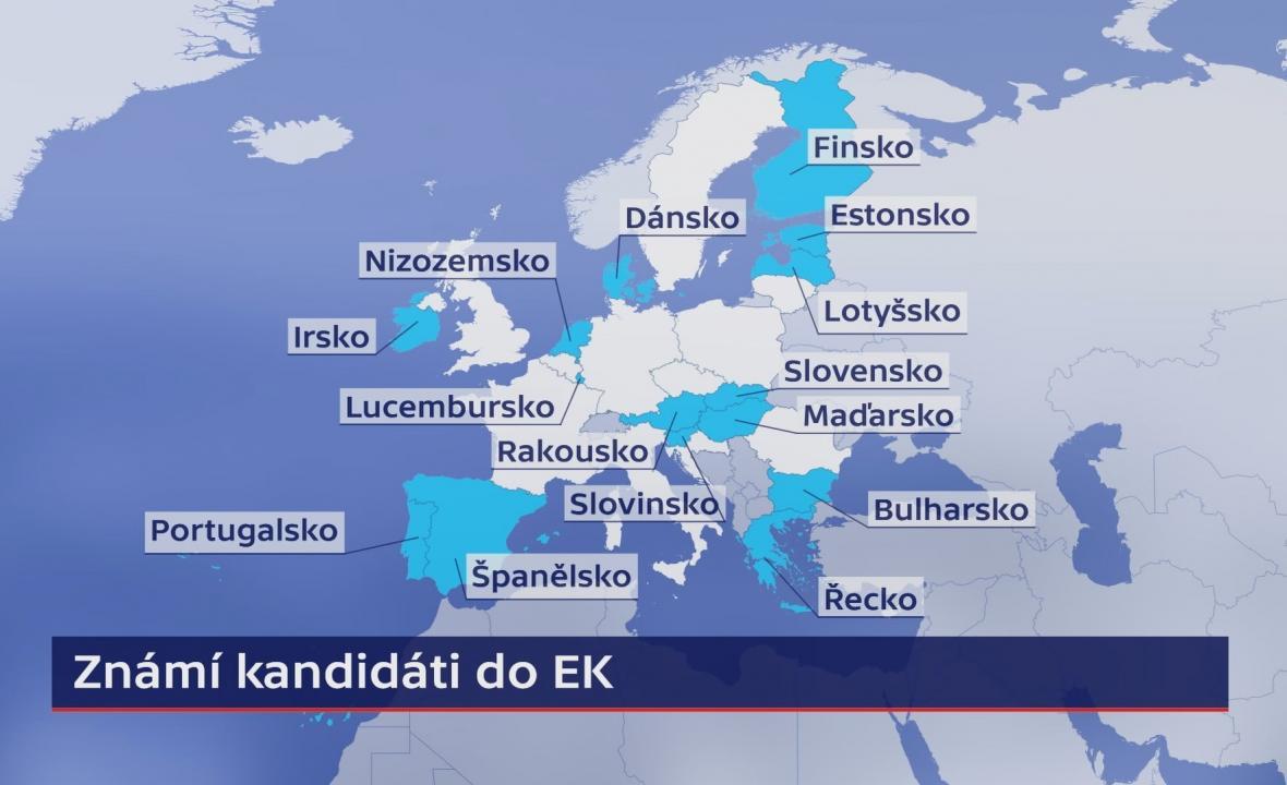 Známí kandidáti do EK