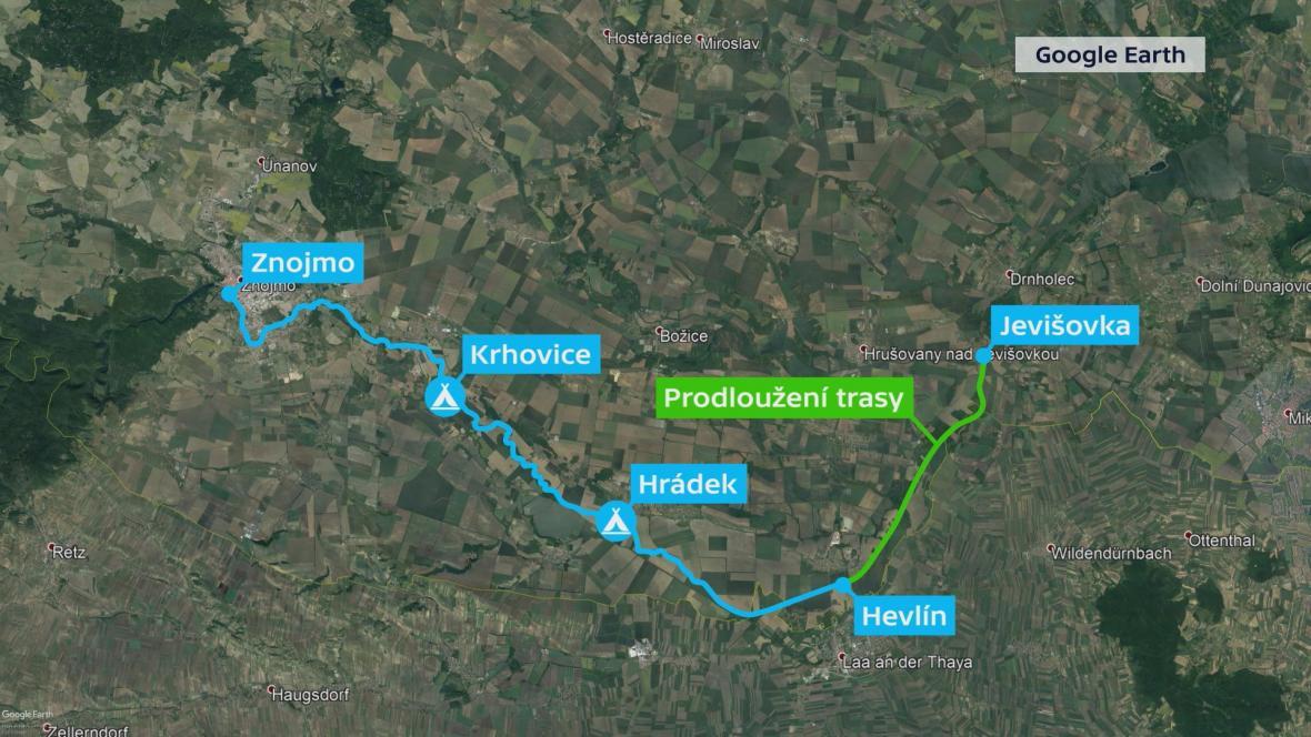 Vodácká trasa na Dyji