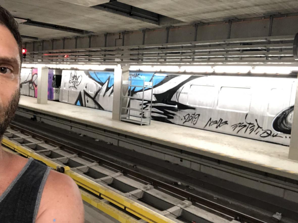 Graffiti Michala Dvořáka