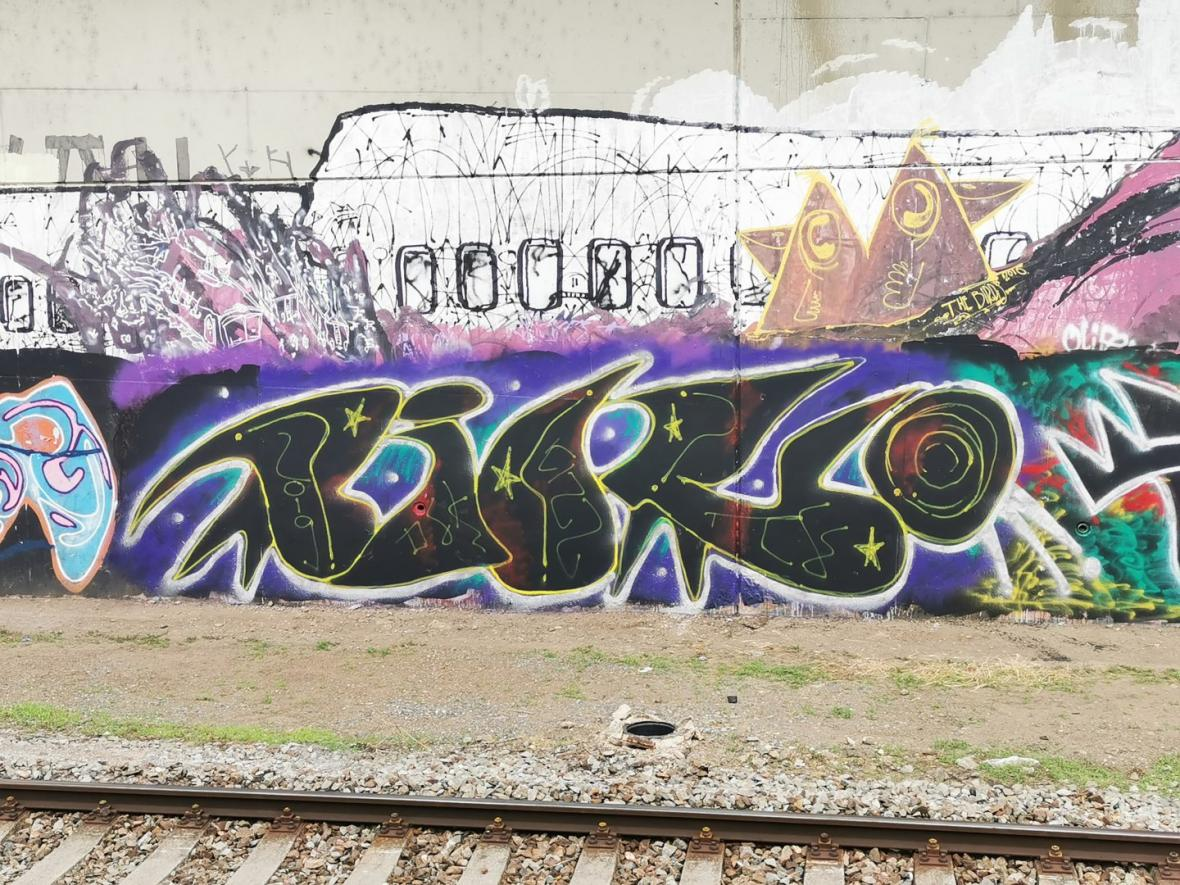 Graffiti Matěje Olmera