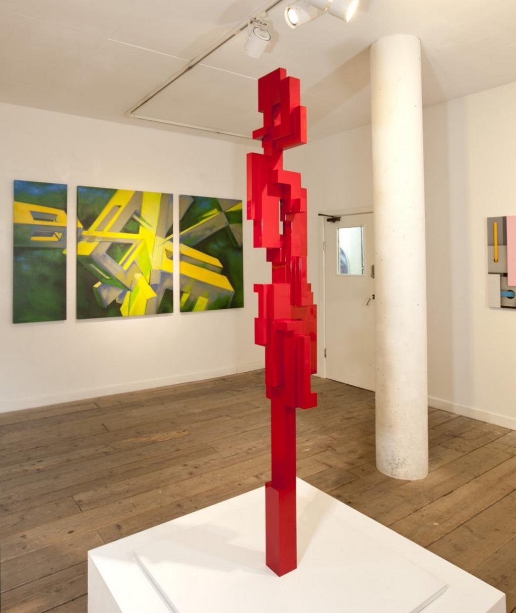 Jak Kaláb / Červený totem a zelený triptych, 2015