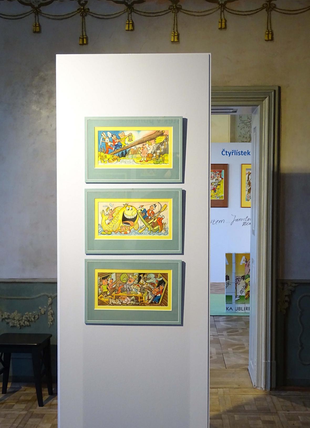 Z výstavy Čtyřlístek a jeho přátelé (Poštovní muzeum)