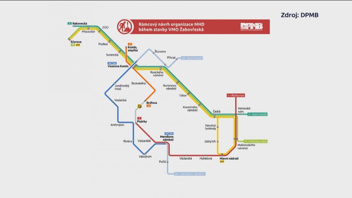Návrh změn MHD při stavbě městského okruhu