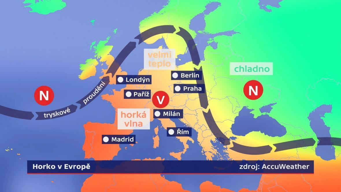 Horko v Evropě