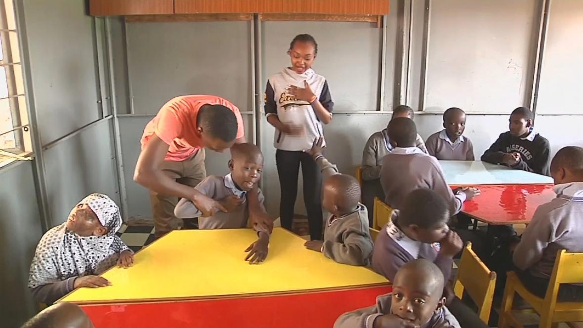 Speciální škola v Nairobi dokáže postiženým dětem zajistit vzdělání