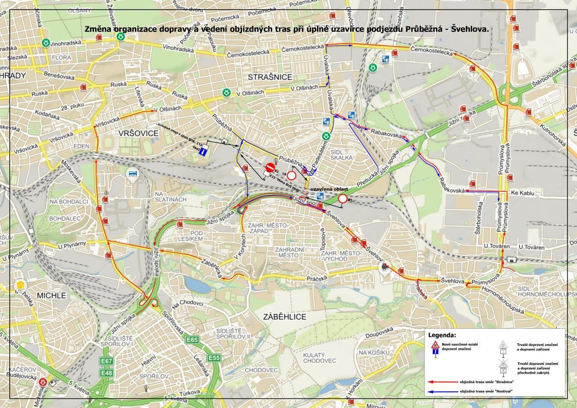 Uzavírky a objízdné trasy v Praze 10