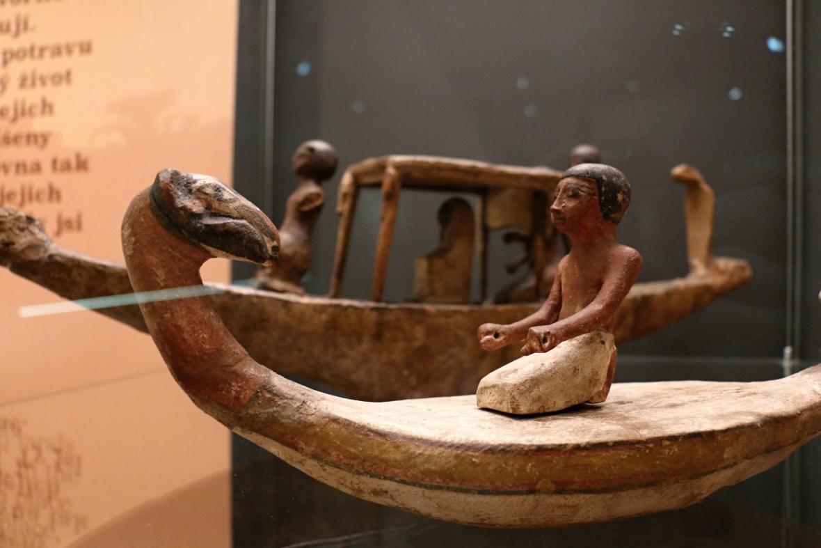 Z výstavy Na březích Nilu