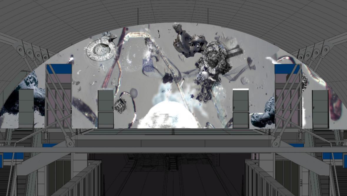 Návrh ztvárnění stanice Pankrác