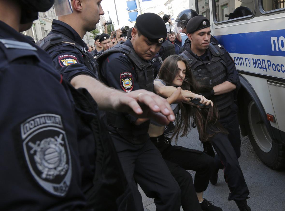 Zatýkání v Moskvě