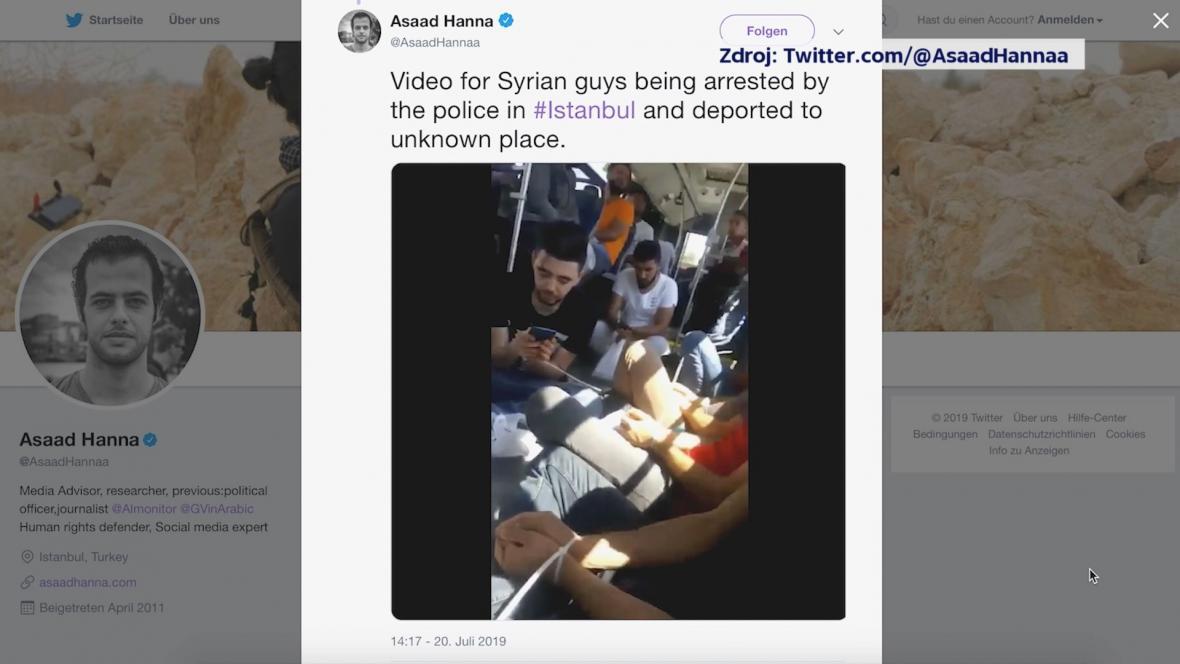 Na sociálních sítích se objevily záběry spoutaných mužů