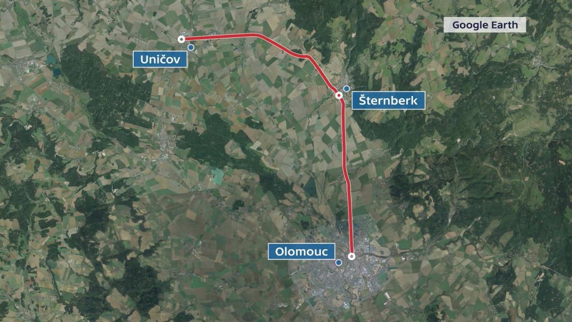 Na trati mezi Uničovem a Šternberkem začala dlouhodobá výluka