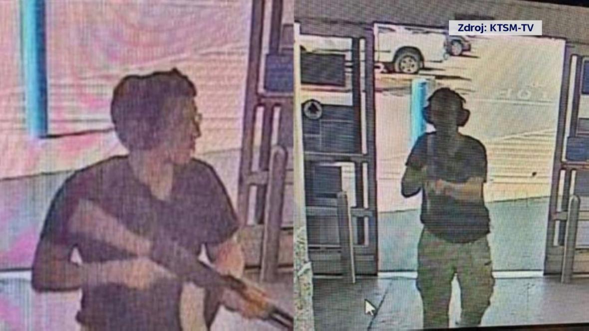 Střelec s El Pasa na záběrech bezpečnostní kamery