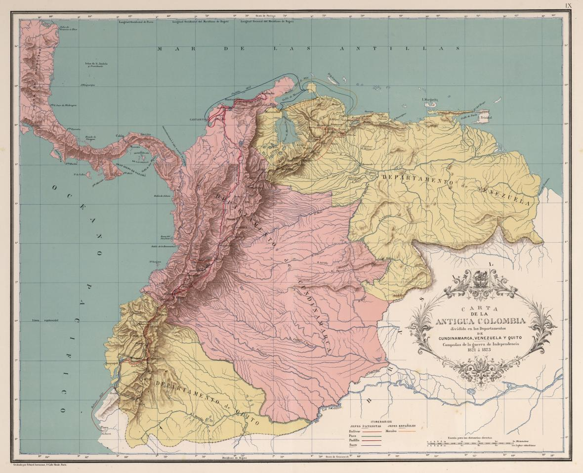 Republika Velká Kolumbie v roce 1820