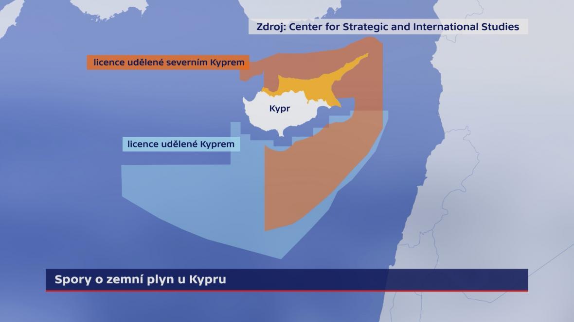 Spory o zemní plyn u Kypru