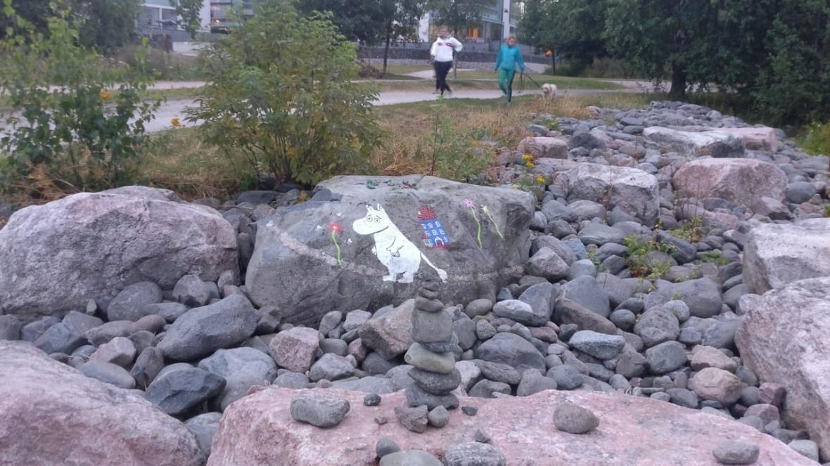 Mumínci v parku v Helsinkách