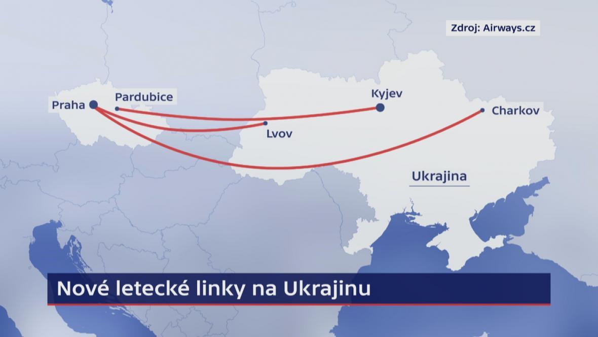 Nové letecké linky na Ukrajinu
