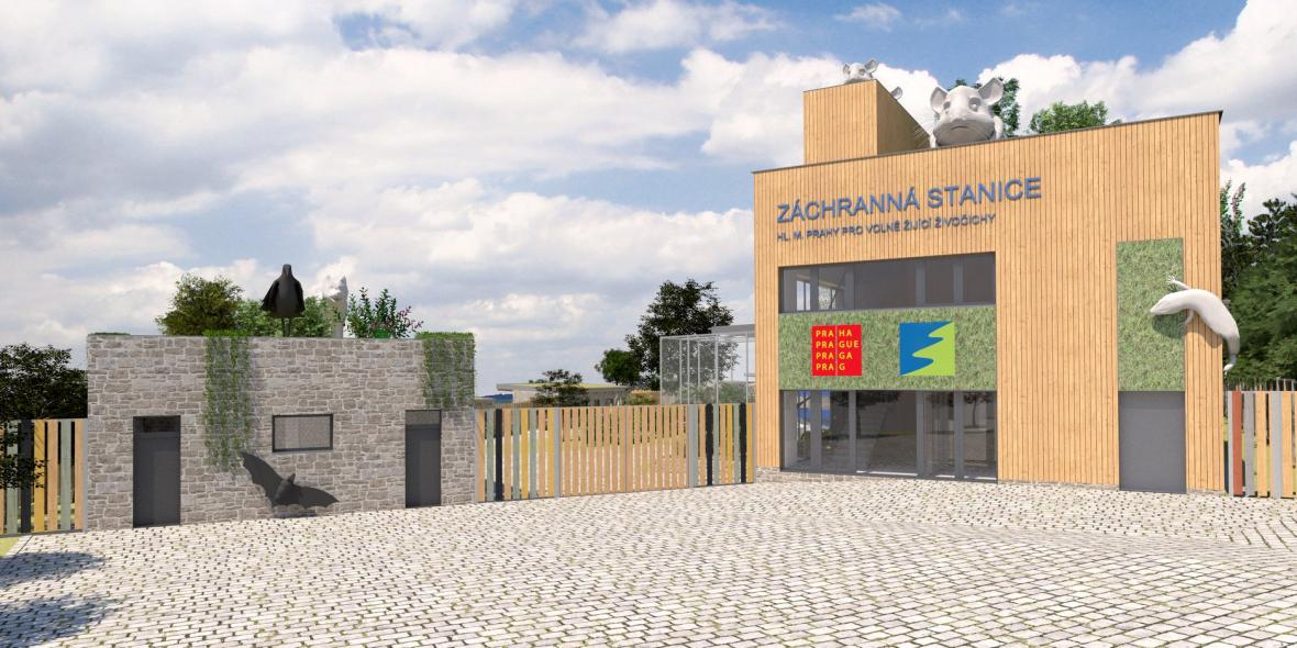 Vizualizace nové záchranné stanice pro zvířata v pražských Jinonicích
