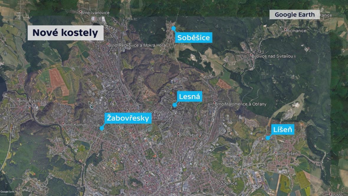 Nové kostely v Brně