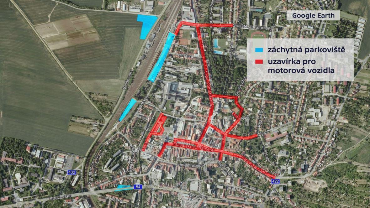 Omezená doprava v Kyjově během Slováckého roku