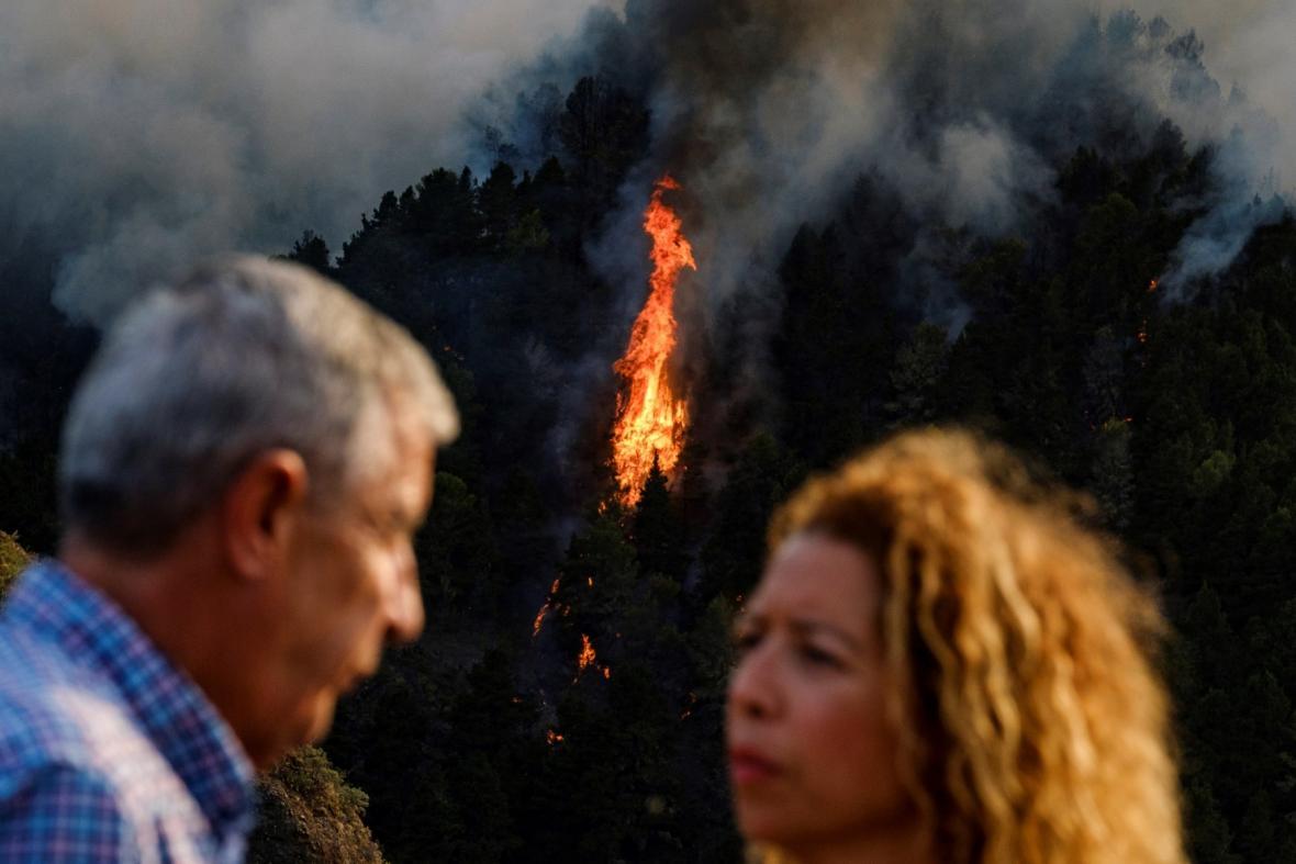 Lesní požár na Gran Canarii