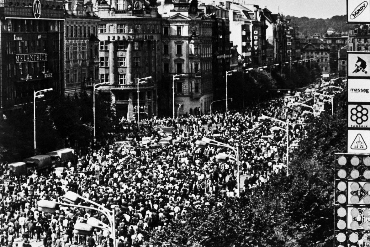 Václavské náměstí 21. srpna 1969