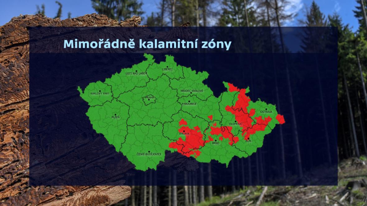 Mimořádně kalamitní zóny v Česku