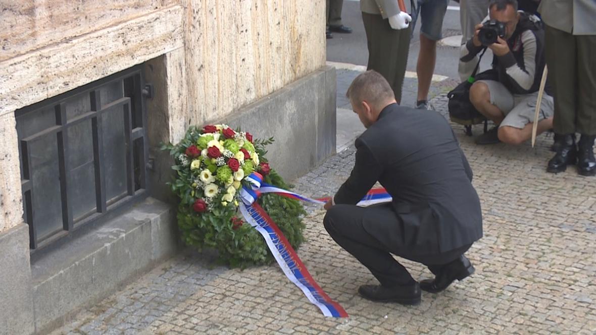 Peter Pellegrini při pietní akci v Bratislavě