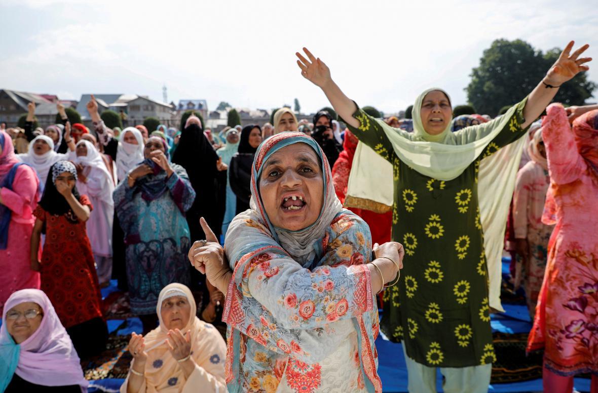 Protesty žen v Kašmíru kvůli postupu indické vlády