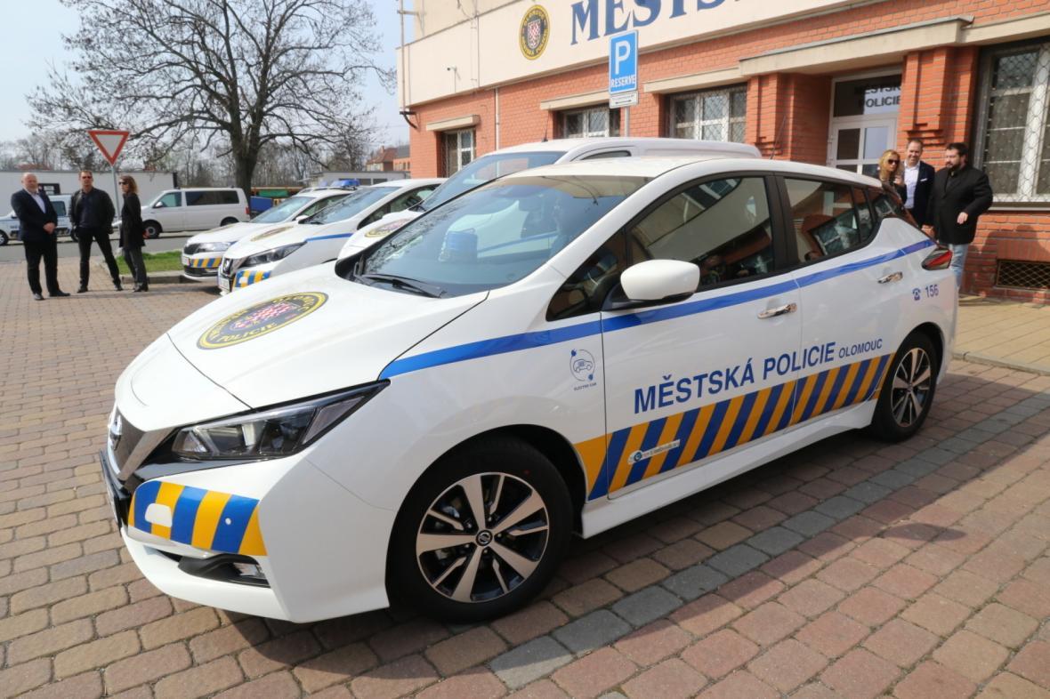 Elektromobil olomouckých strážníků