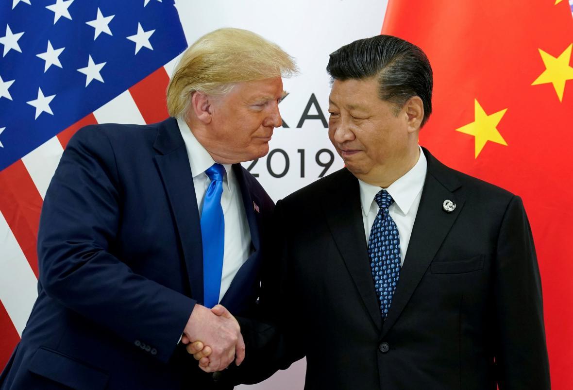 Červnové setkání prezidentů USA a Číny Donalda Trumpa a Si Ťin-pchinga na summitu G20