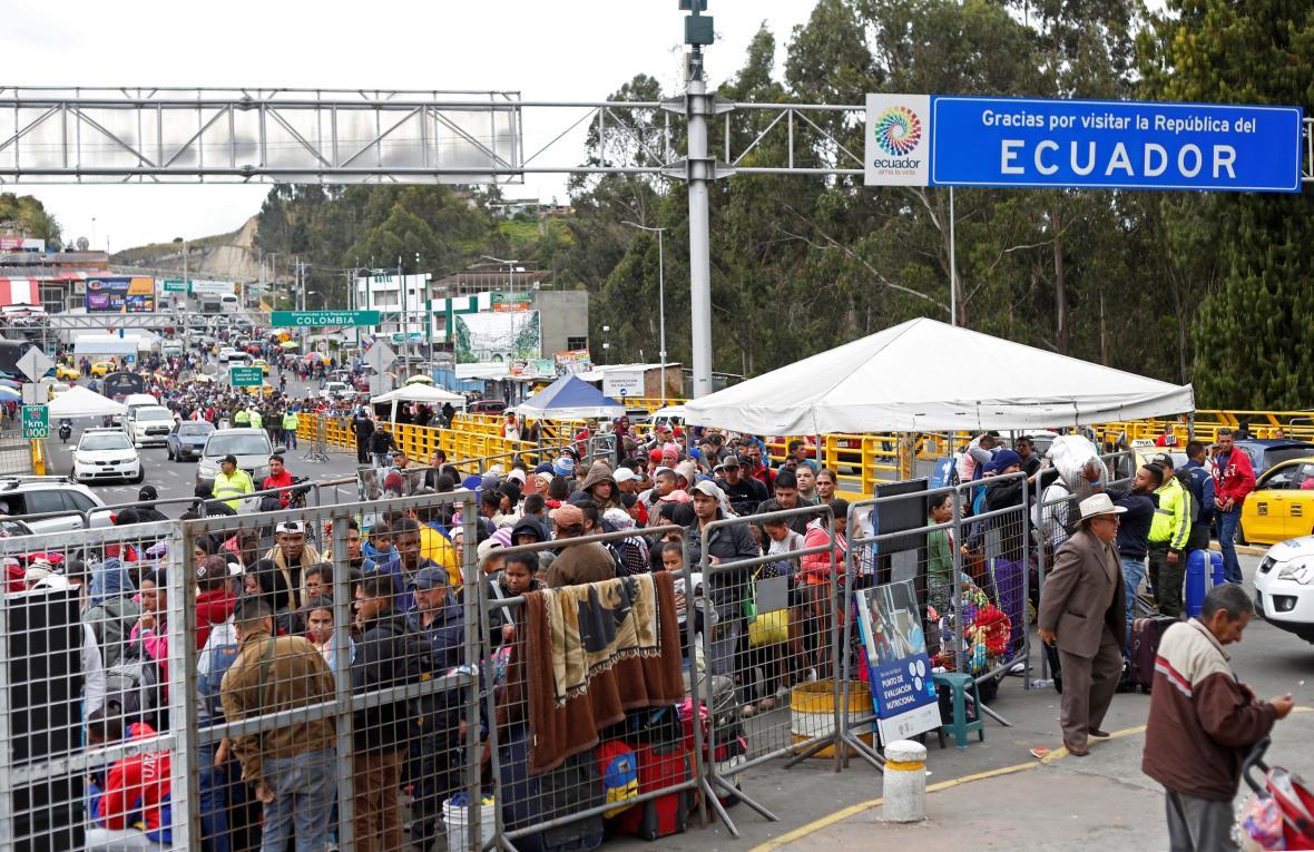 Do Ekvádoru míří tisíce Venezuelanů