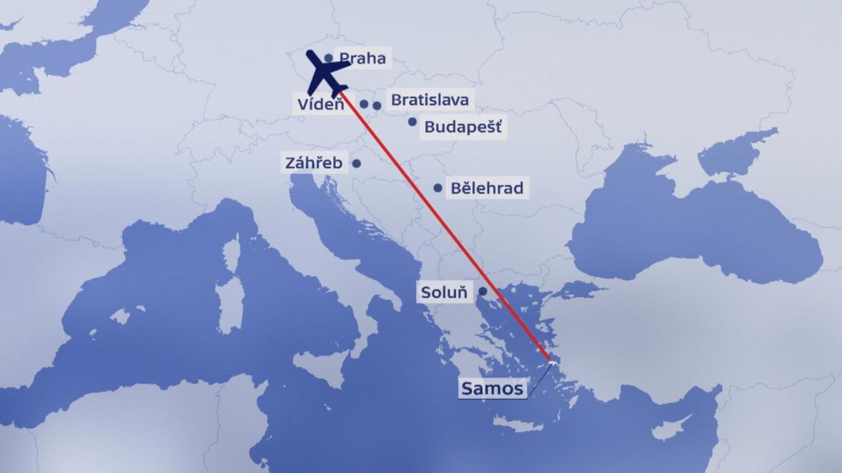 Let společnosti Smartwings z Řecka do Prahy jen s jedním motorem
